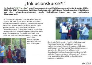 Trainings mit Flüchtlingen
